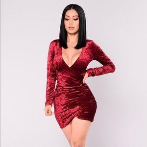 Rita crushed velvet dress